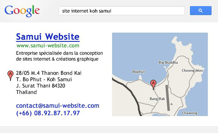 Business card – Samui Website