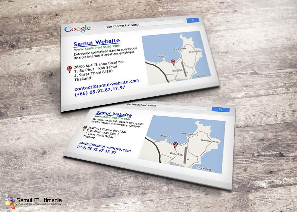 Business card - Samui Website
