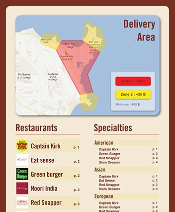 Menu - Samui Delivery