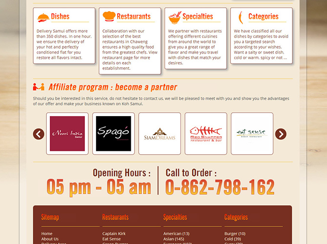 Website – Samui Delivery