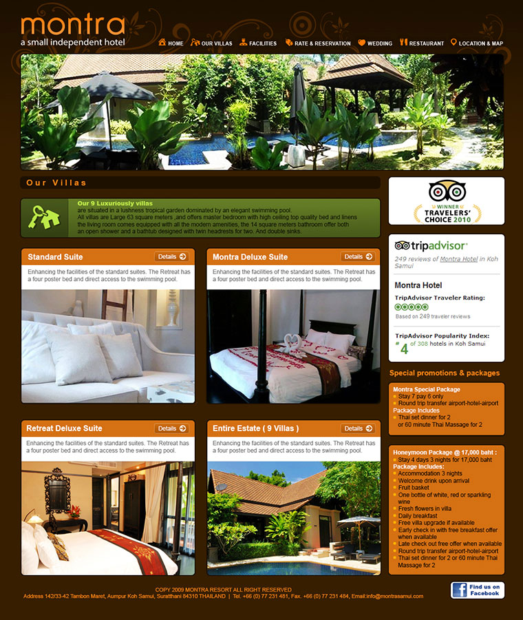 Website – Montra Resort