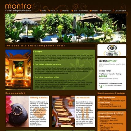 Website - Montra Resort