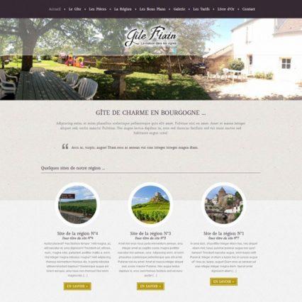 Website - Gîte Fixin