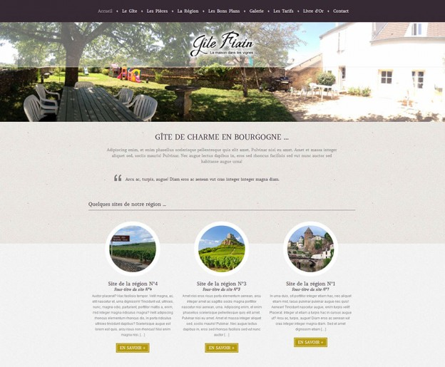 Website - Gîte Fixin
