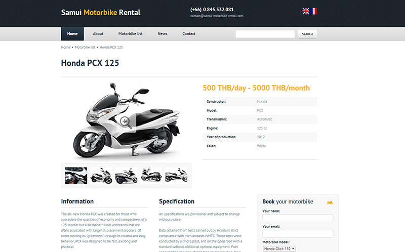 Website – Samui Motorbike Rental