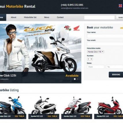 Website - Samui Motorbike Rental