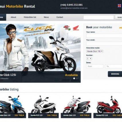 Website - Samui Motorbike Rental