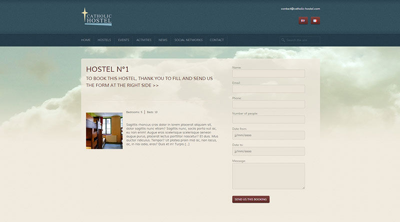 Website – Catholic Hostel