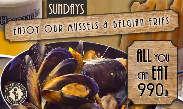 Flyer Café Zazen - Mussels 1