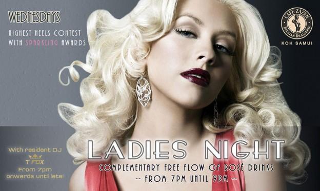 Flyer Café Zazen - Ladies Night V.2.08