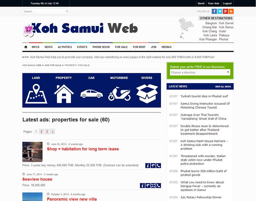 Website – Koh Samui Web V.3