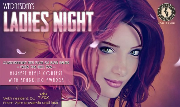 Flyers Café Zazen - Ladies Night