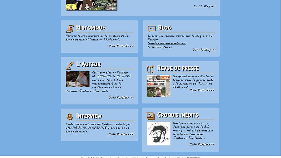 Website – Tintin en Thaïlande