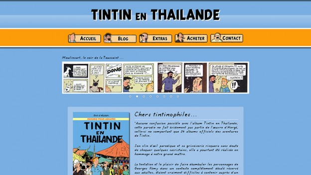 Website - Tintin en Thaïlande