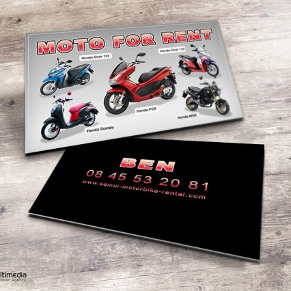 Business cards - Samui Motorbike Rental