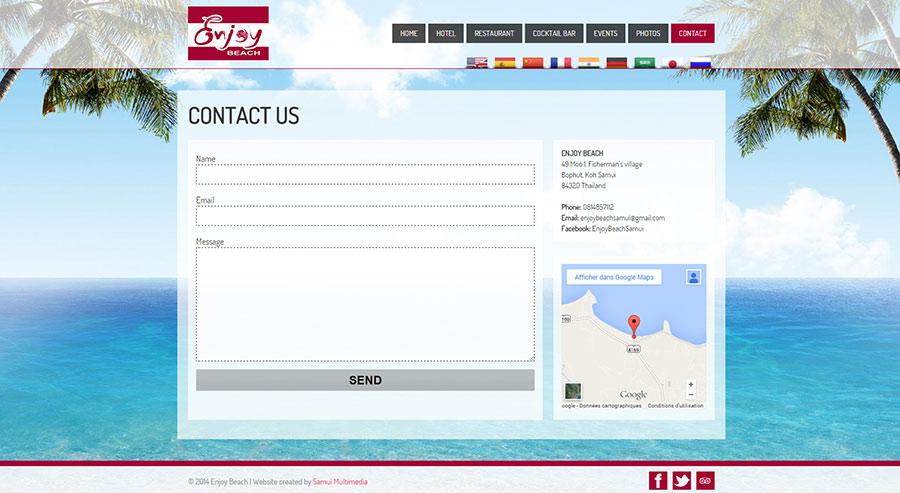 Modifications Website – Enjoy Beach