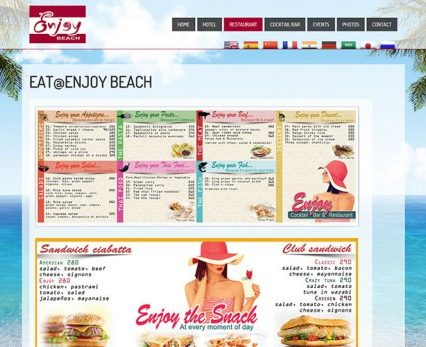 Modifications Website - Enjoy Beach