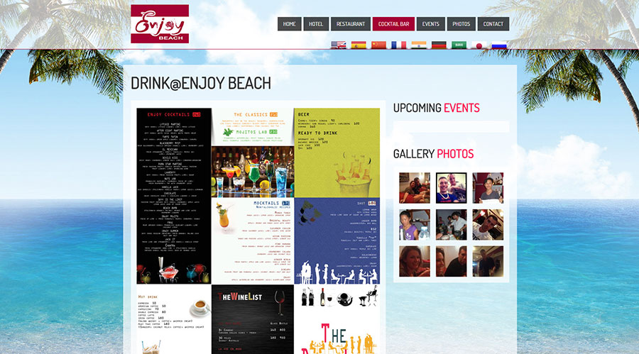 Modifications Website – Enjoy Beach