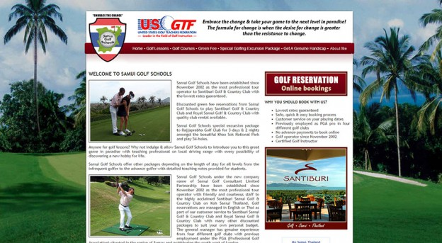 Modifications Website - Samui Golf Schools