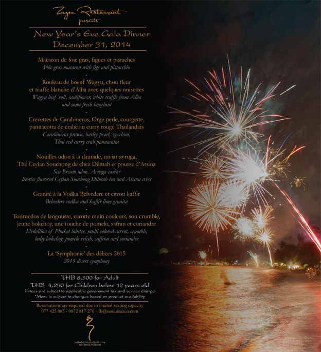 New year 2015 flyer - Zazen Resort