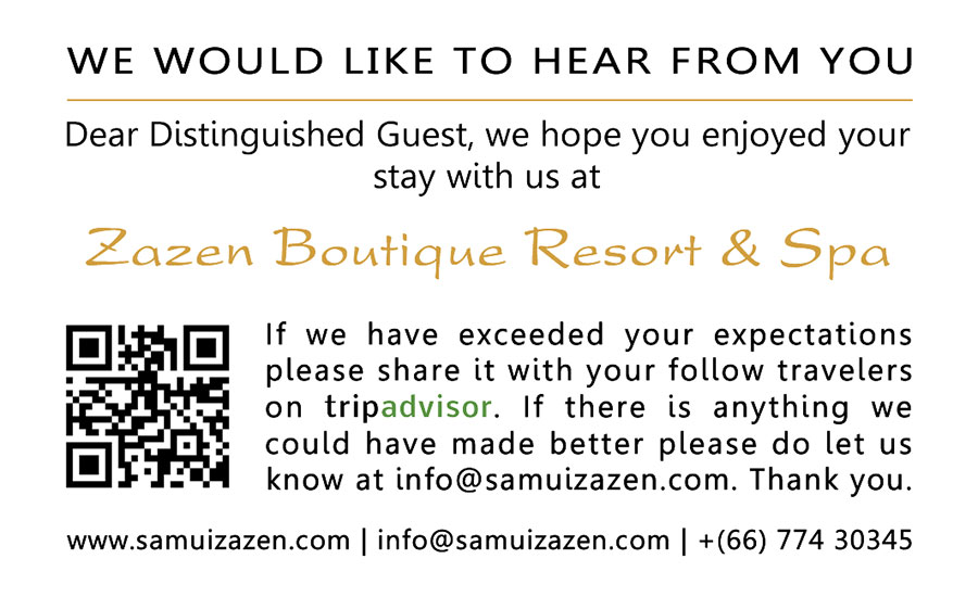 Tripadvisor cards – Zazen Resort
