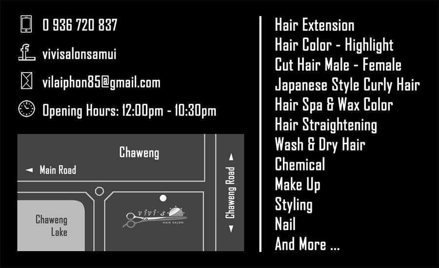 Business card – Vivi's Hair Salon