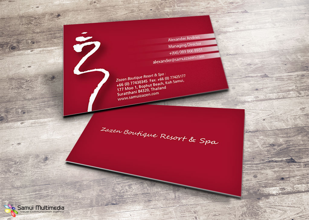 Business card - Zazen resort