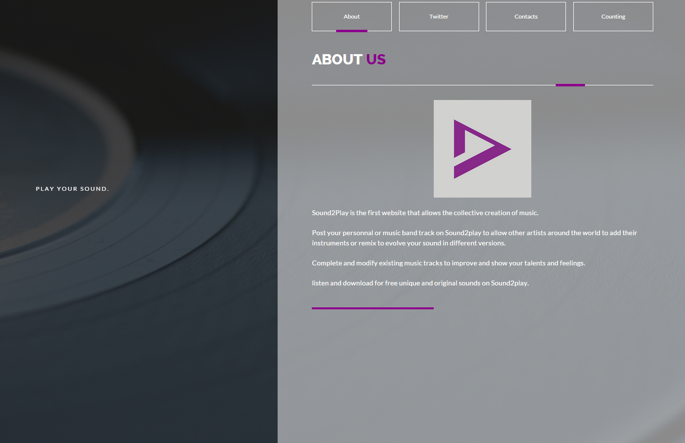 Website – Sound2play