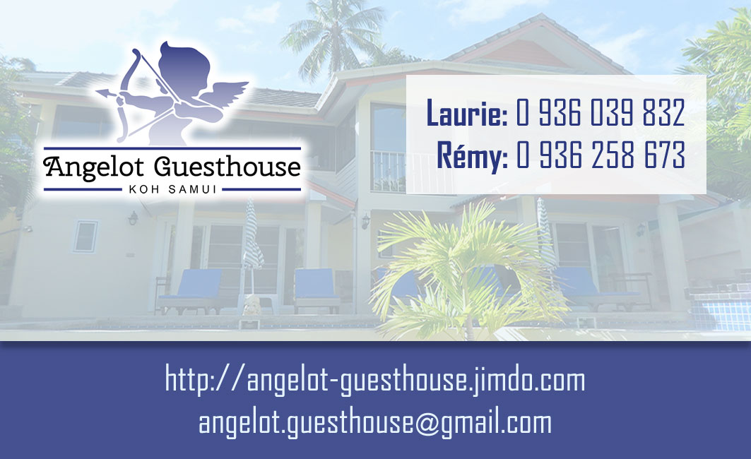 Business card – Angelot guesthouse