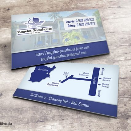 Business card - Angelot guesthouse