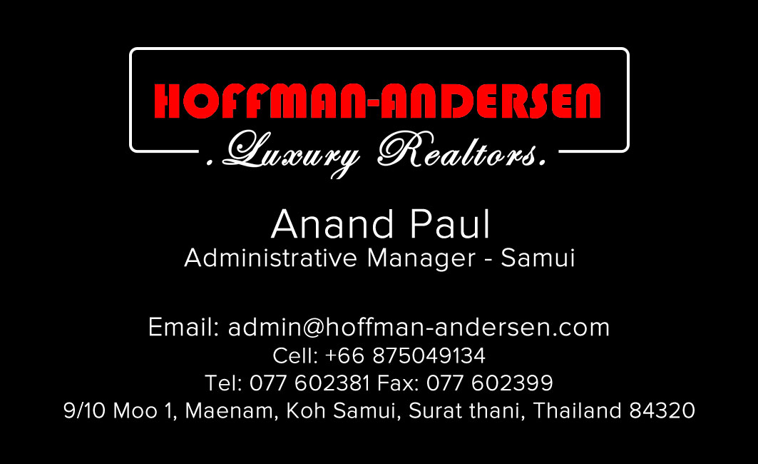 Business card – Hoffman-Andersen