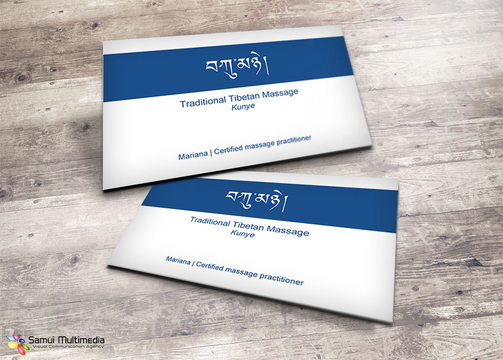 Business card - Mariana massage