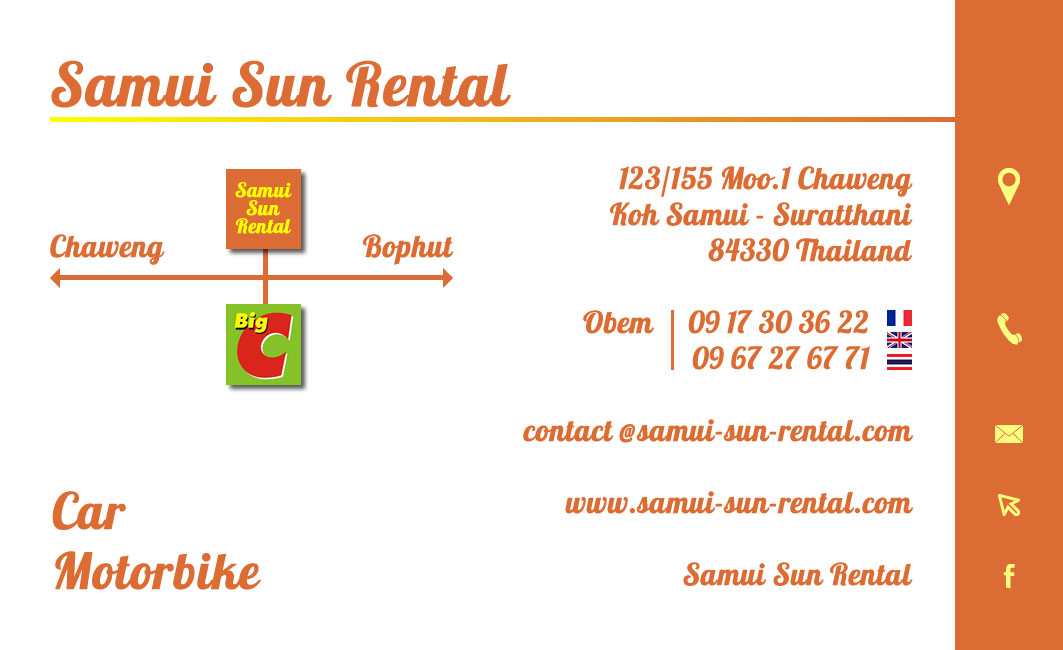 Business card – Samui Sun Rental