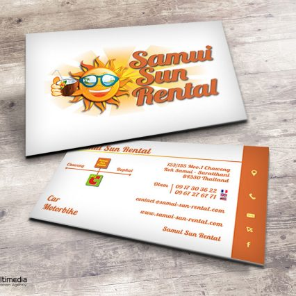 Business card - Samui Sun Rental