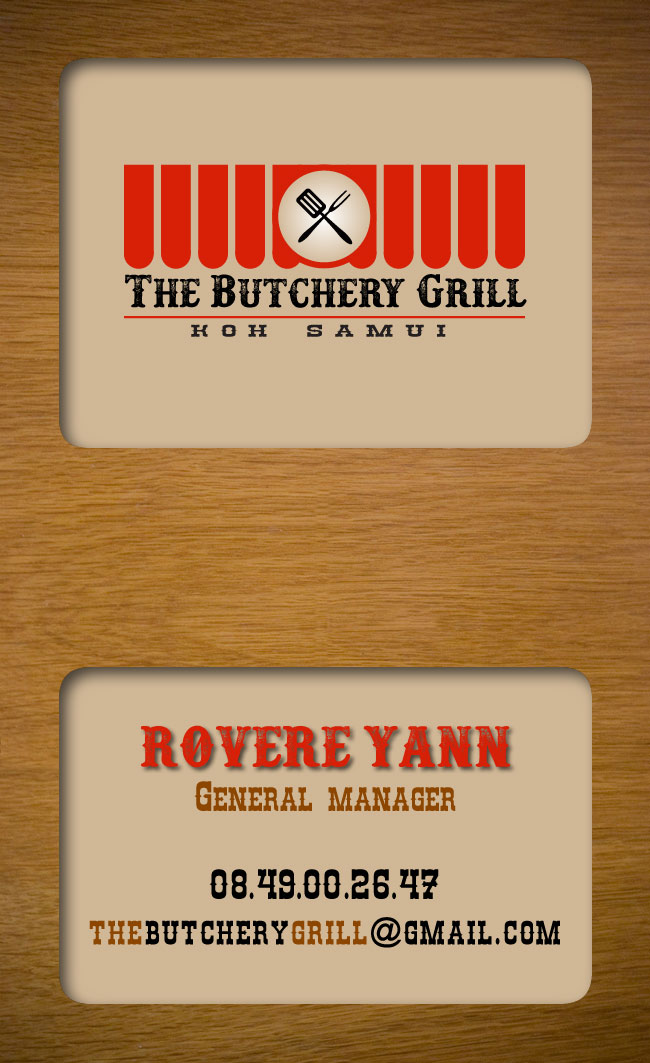 Business card – The Butchery Grill