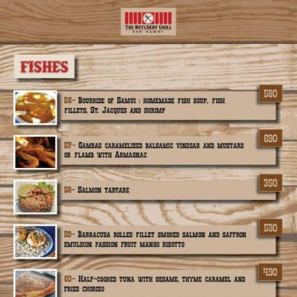 Menu - The Butchery Grill