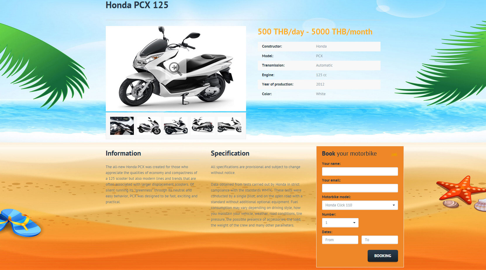 Website – Samui Sun Rental
