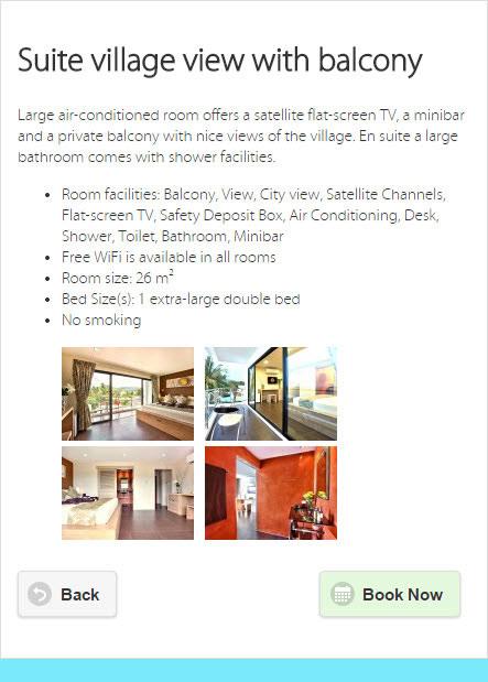 Mobile website – Hacienda hotel