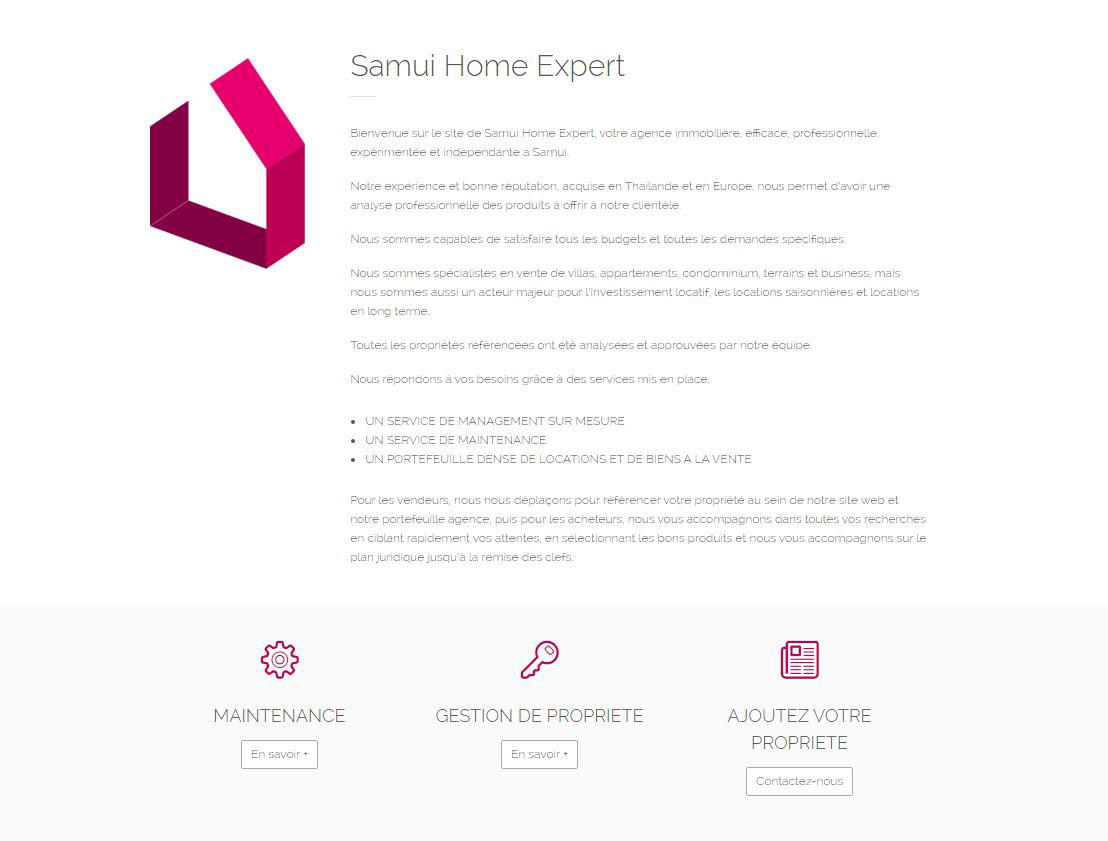 Website – Samui Home Expert