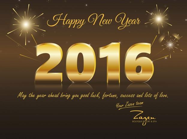 Backdrop New year - Zazen Resort