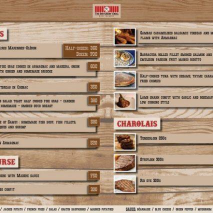Christmas menu - The Butchery Grill