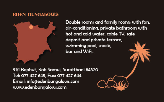 Business card – Eden Bungalows
