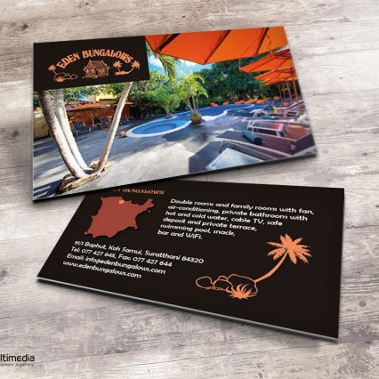 Business card - Eden Bungalows