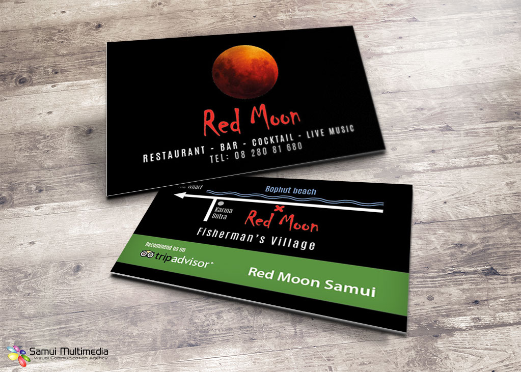 Business card - Red Moon