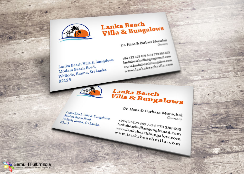 Business card - Lanka resort