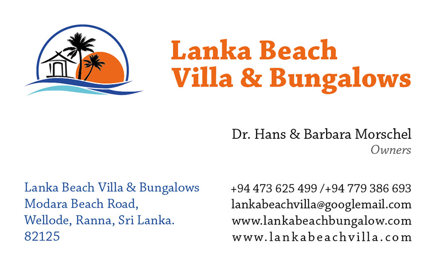 Business card – Lanka resort