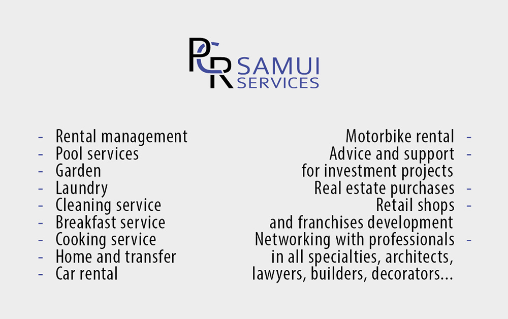 Business card – PCR Samui Services