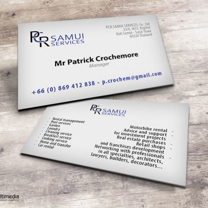 Business card - PCR Samui Services