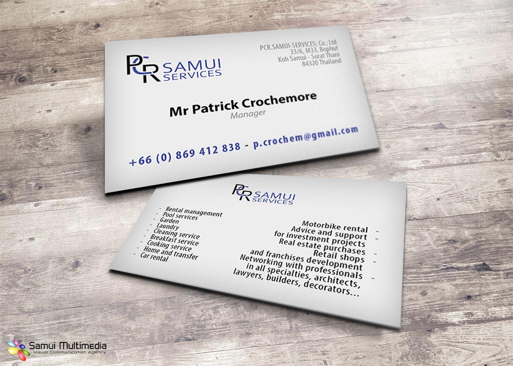 Business card - PCR Samui Services