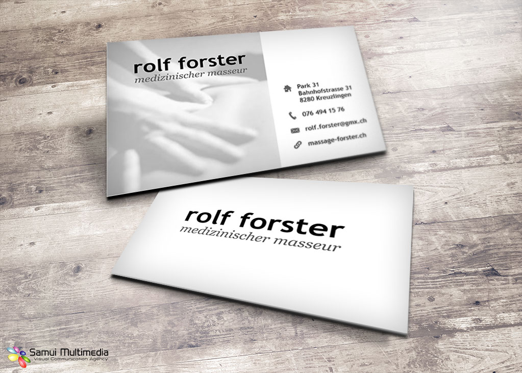 Business card - Rolf Forster